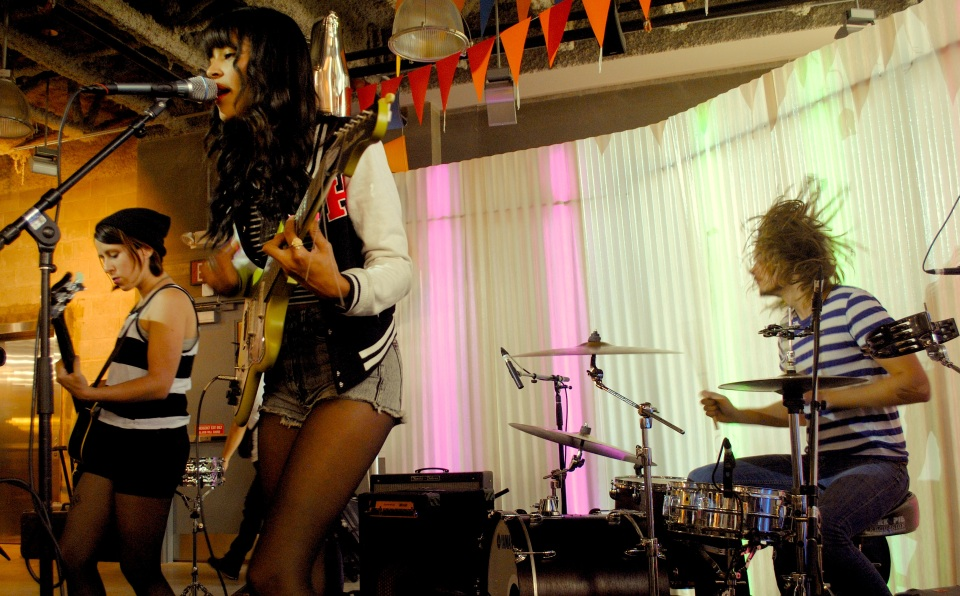 Florida surf-pop group Beach Day played a free NXNE showcase put on by Urban Outfitters's Queen Street West location.