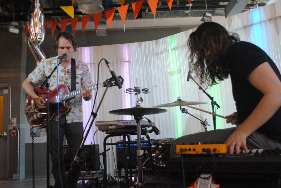 Dusted played a free afternoon gig at Urban Outfitters as part of NXNE. (Photo: Tom Beedham)