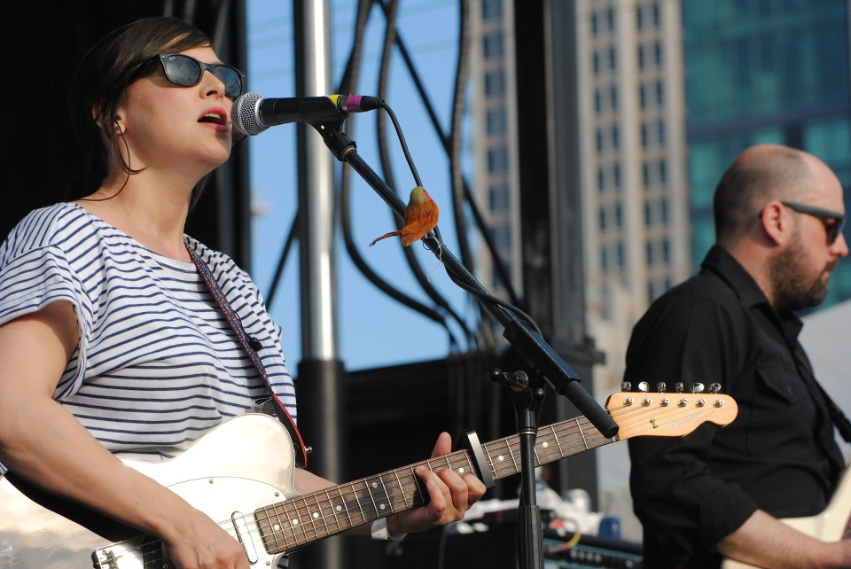 Camera Obscura's Tracyanne Morgan and Kenny McKeeve at Fort York for TURF on July 4, 2013. Photo: Tom Beedham