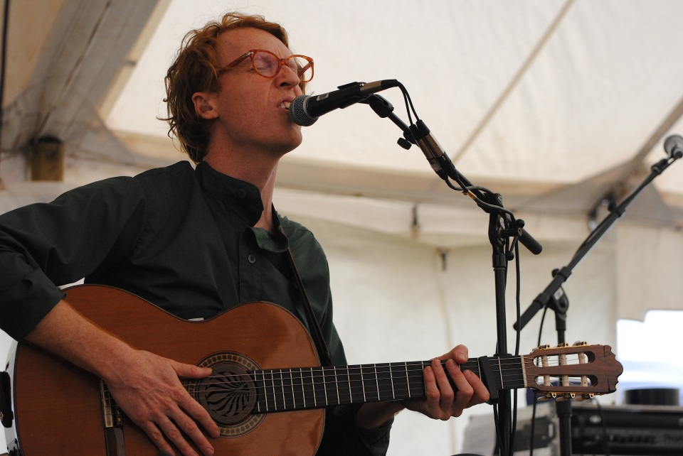 "Richard Reed Parry performed his rarely heard ""Quiet River of Dust"" project at Hillside Festival in Guelph, Ont. on July 28. Photo: Tom Beedham"