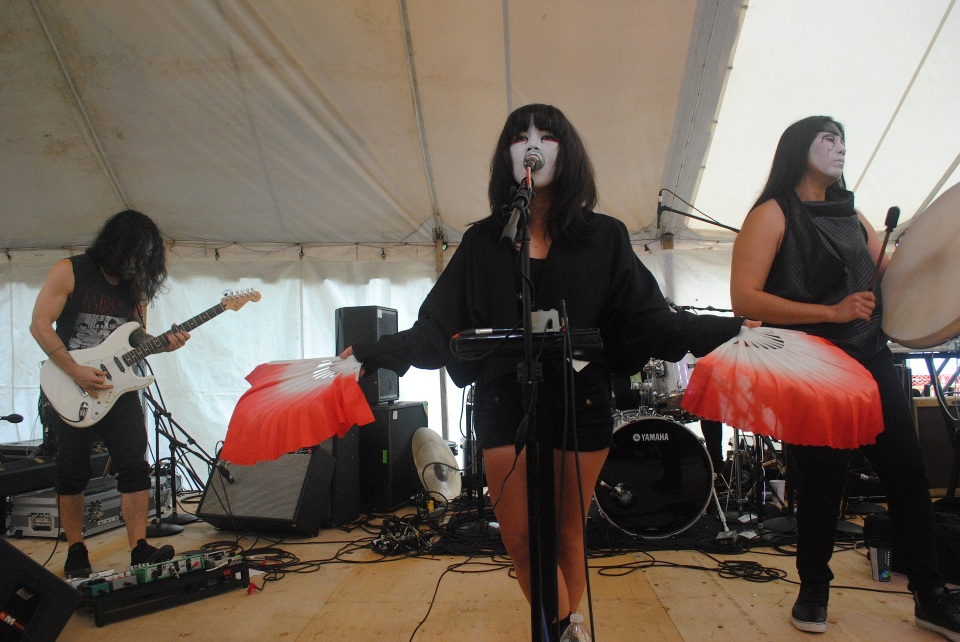 Yamantaka // Sonic Titan performed a new, unidentified song at Hillside Festival in Guelph, Ont. July 27. Photo: Tom Beedham