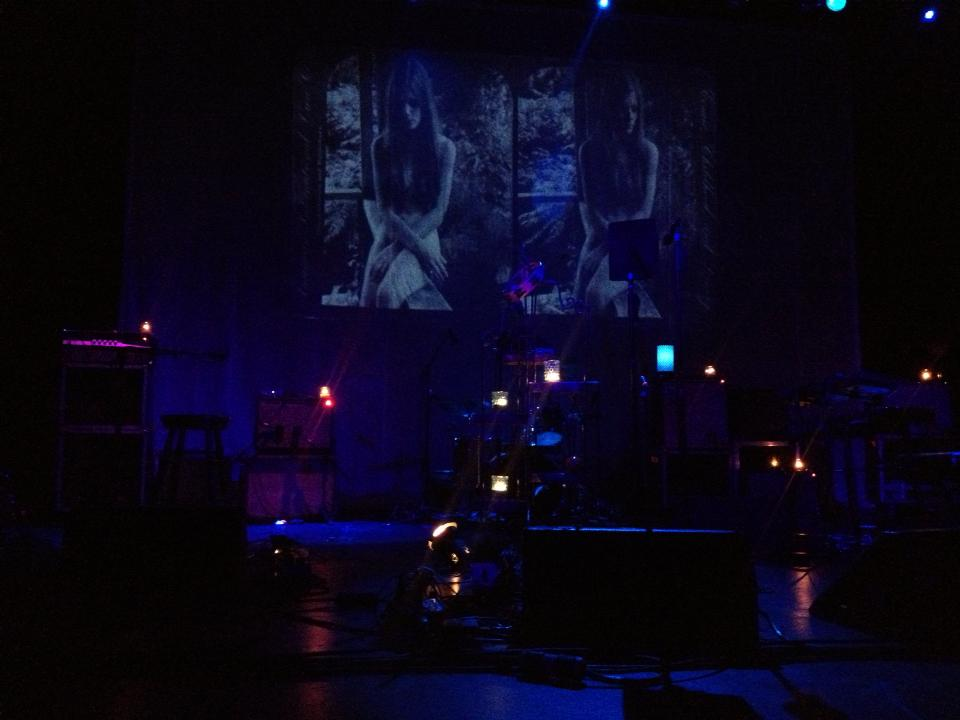 Mazzy Star's candlelit stage setup at the Danforth permeated an intimate atmosphere made only more intimate by a strict phone ban at Toronto's Danforth Music Hall on Nov. 16.  Photo: Tom Beedham